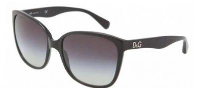 D&G Dd3090 Glitter Sunglasses-501/8G Black (Gray Gradient Lens)-59Mm