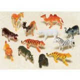 Wild Jungle Animals Toy Figures, 12pk