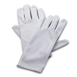 Polyester White Gloves Child Accessory - 1