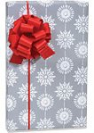 Christmas WINTER SNOWFLAKES Gift Wrap Wrapping Paper - 16ft Roll