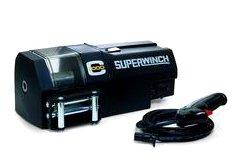 Superwinch 03010 C1000, Crane winch, 24 VDC, 1,000 lb/454 kg with roller fairlead, motor cover, circuit breaker, solenoid & 15' remote. No rope (Auto Crane Remote compare prices)