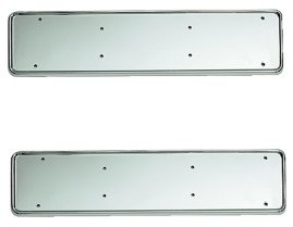 Urban X - Chrome Metal Number Plate Holder - Pair