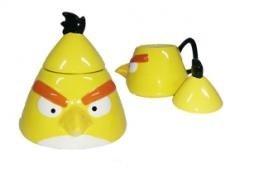 Angry Birds - 3D Keramik Tasse mit Deckel gelb
