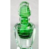 Green Art Glass Perfume Bottle X180-2 ~ Tripact Inc
