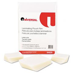 "Clear Laminating Pouches, 5 mil, 2-1/4"" x 3-3/4"","