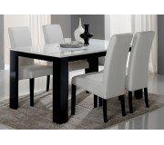PISA Dining Table (Black, 190 cm, White)