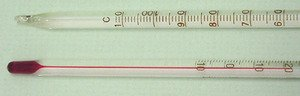 Thermometer Red Spirit Partial Immersion -20 to 110C Single Scale pk 10