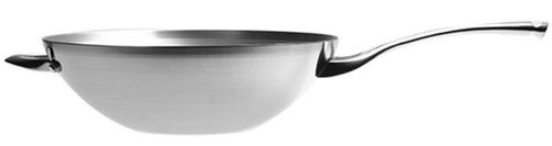Calphalon Contemporary Stainless 13-Inch Flat-Bottom Wok