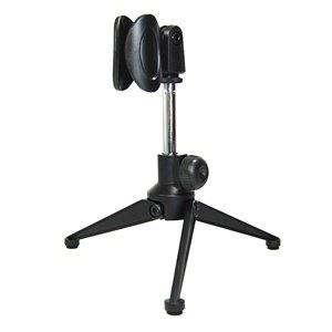 Bluecell Mini Alloy Microphone Portable Stand Tripod Desktop