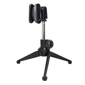 Bluecell Mini Alloy Microphone Portable Stand Tripod Desktop