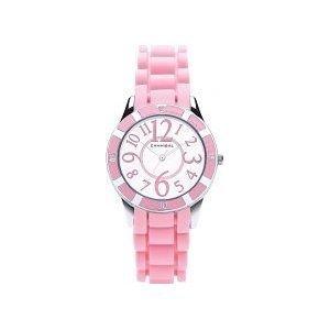 Cannibal CJ221-14 - Reloj analógico de cuarzo para niña con correa de silicona, color rosa