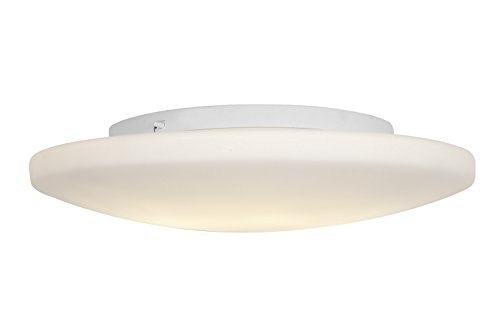 Access Lighting 50162Ledd-Wh/Opl Orion Led Light 19-Inch Diameter Flush Mount With Opal Glass Shade, White Finish
