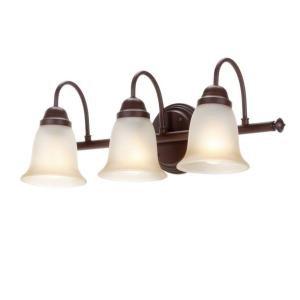 Commercial Electric Nutmeg 3 Light Vanity Sconce Vanity Lighting Fixtures