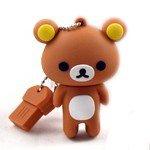 8GB USB Flash Drive with Cute Rilakkuma Shape 8G Memory Stick U Disk - Brown