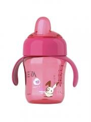 Avent-260ml-Spout-Cup-12M-Colour-Pink