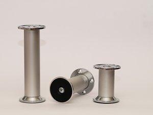 pied r glable en hauteur pour meuble et table argent anodis 125 mm bricolage. Black Bedroom Furniture Sets. Home Design Ideas
