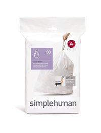 simplehuman Form toll Fit Trash Can Liner A, 4.5 Liters / 1.2 Gallons, 30-Count (Pack of 2)