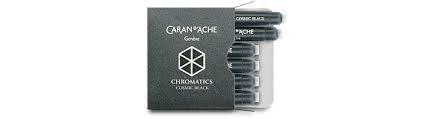 Caran D'Ache cartouches D'encre Chromatics Noir Cosmique