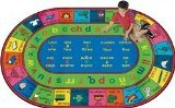 "Joy Carpets Kid Essentials Language & Literacy Oval Spanish LenguaLink Rug, Multicolored, 10'9"" x 13'2"" - 1"