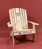 Texas A&M University Logo Adirondack Chair with 23