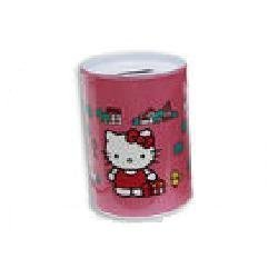 Hello Kitty Tin Coin Bank-Hot Pink - 1
