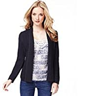 Indigo Collection Open Front Aztec Cardigan