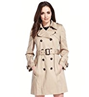 Petite Pure Cotton Double Breasted Belted Trench Coat with Stormwear™