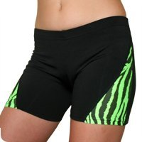 Vortex Zebra Striped Spandex Compression Shorts - (available in 2 lengths, 9 colors) zebra page 9