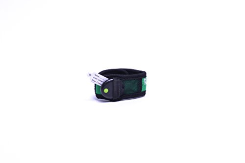 My Buddy Tag with Velcro Wristband, Green - 1