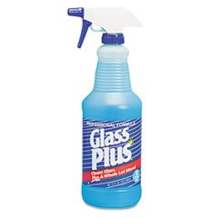 Glass Plus® Glass Cleaner, 32 Ounce (DRA94378) Category: Glass Cleaners