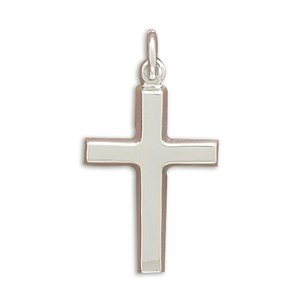 925 Sterling Silver Plain Polished Cross Pendant