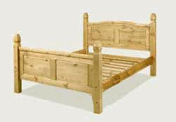 corona soild pine 5ft kingsize bed frame