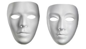 Mens Blank Male Mask(One Size-As Shown)