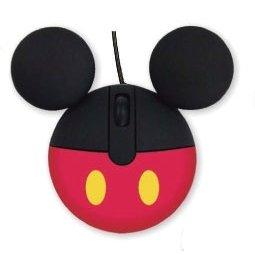 モバイル マウス (光学式・ USB接続) アイコン モチーフ ミッキーマウス ディズニー パソコン周辺機器