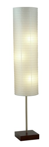 Adesso 4099-15 Gyoza Floorchiere 67-Inch Floor Lamp with Rice-Paper Shade, Walnut