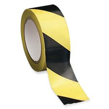 Sparco Marking/Hazard Tape, Adhesive-Back, 2 x 108-Feet, Yellow/Black (SPR11794)