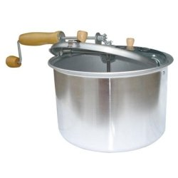 Old Fashioned Popcorn Popper, 5 Quart, For Stove Top, With Hand Crank Stir Paddle