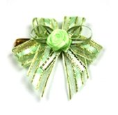 [20pcs] Lace Ribbon Color Twist Ties Gift Ties for Plastic Bags Cello Bags Magic Wand Twist Ties (Green)