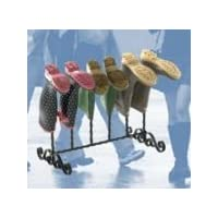 Heavy duty black cast iron welly rack stand