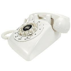 Crosley CR58-IV Ivory Desk Phone