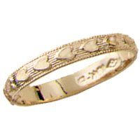 10kt. Gold, Children's Heart Fashion Ring (Size 1.0)