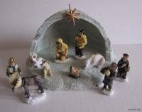 Alaska Eskimo Nativity Mini Igloo Set 12 Piece