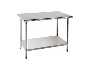 Advance Tabco 14-Gauge Stainless Steel Top - Flat Top w/ Undershelf - Model SS-242