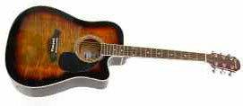 Fg414Ce Crestwood Dreadnought Cutaway Acoustic Electric Guitar - Tobacco Sunburst