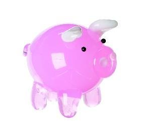 Miniature Glass Pig Figurine - 1