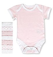 7 Pack Pure Cotton Short Sleeve Assorted Bodysuits