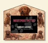 Chocolate Lab Dog House Frame 4x6 or 3x5 Pictures