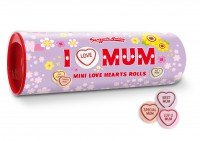 SWIZZELS MATLOW I Love Mum, Mini Love Heart Rolls 108g / 3.80 oz.