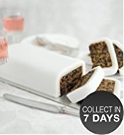 Fruit Ivory Icing Cutting Bar Cake