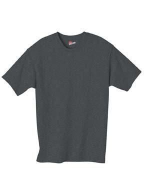 Hanes 6 oz. Tagless T-Shirt, Charcoal Heather, 3XL